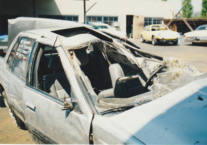 Molly's Acura after the crash
