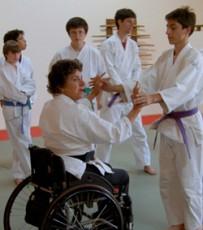 Molly teaching an aikido  youth class