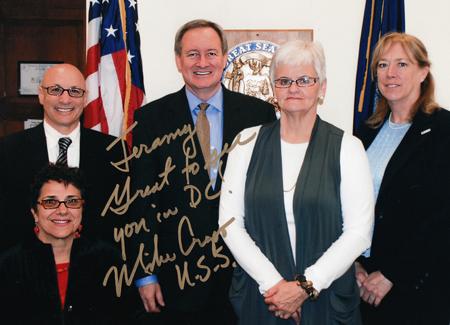 Molly and Jeramy meet with Idaho Senator Mike Crapo in Washington DC.